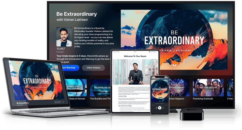 Be Extraordinary on various devices