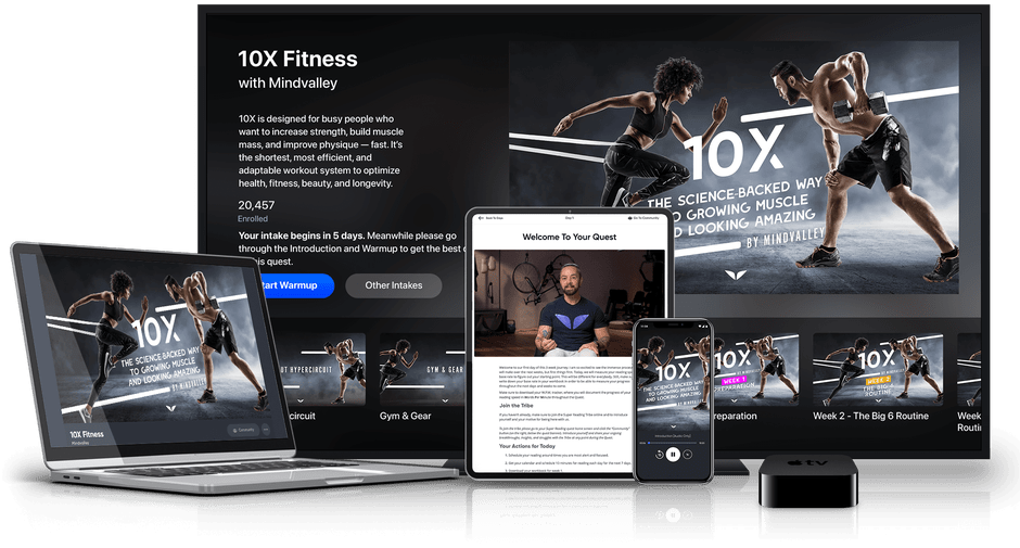 10X Fitness en varios dispositivos